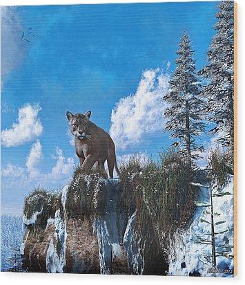 The Prowler Wood Print by Ken Morris