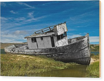 The Pt. Reyes Muted Wood Print by Bill Gallagher