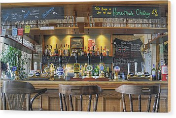 The Pub Wood Print