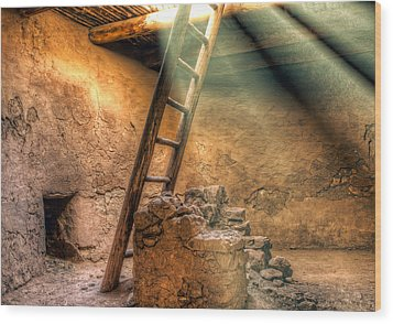 The Pueblo Cermonial Room Wood Print
