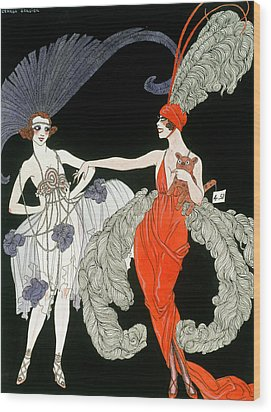 The Purchase  Wood Print by Georges Barbier