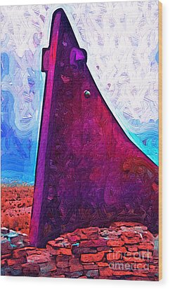 The Purple Pink Wedge Wood Print by Kirt Tisdale