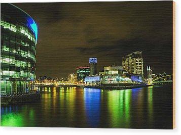 The Quays Wood Print by Brendan Quinn
