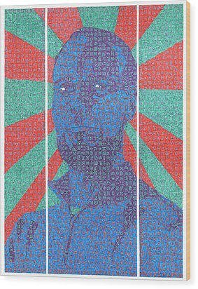 The Question Wood Print by Daniel Zaug