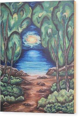 The Quiet Ocean Wood Print
