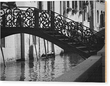 Wood Print featuring the photograph The Quiet - Venice by Lisa Parrish