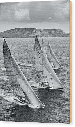 The Race Wood Print