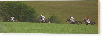 The Race Is On Wood Print