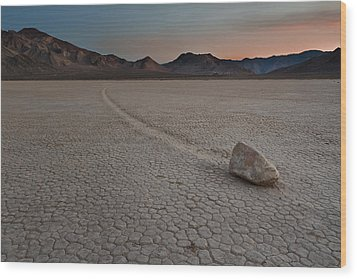 The Racetrack At Death Valley National Park Wood Print by Eduard Moldoveanu
