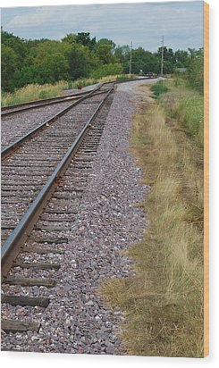 Wood Print featuring the photograph The Rails by Ramona Whiteaker