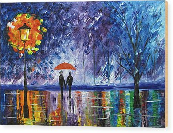 The Rain Wood Print by Mariana Stauffer
