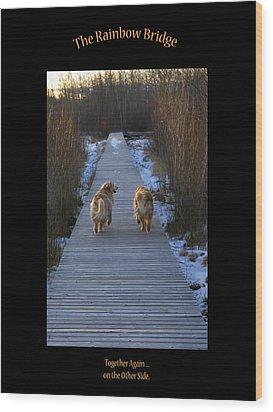 The Rainbow Bridge Wood Print