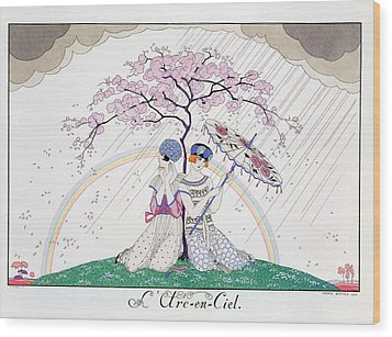 The Rainbow Wood Print by Georges Barbier