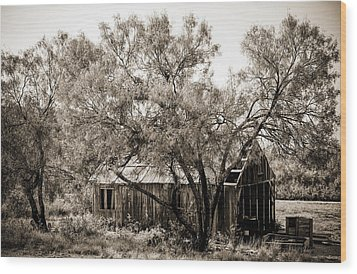 Wood Print featuring the photograph The Ranch  by Amber Kresge