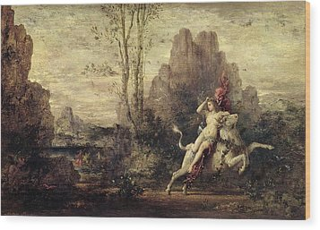 The Rape Of Europa Wood Print by Gustave Moreau
