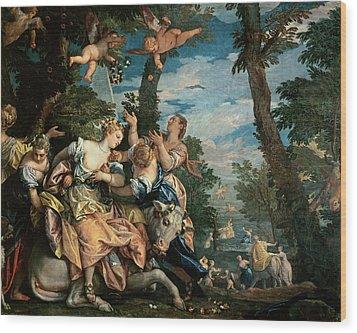 The Rape Of Europa Wood Print by Veronese