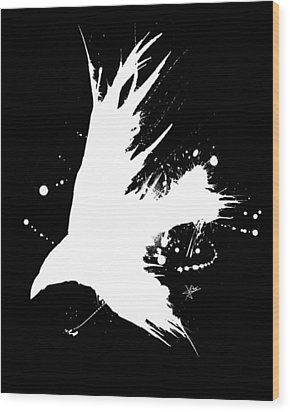 The Raven IIl Wood Print