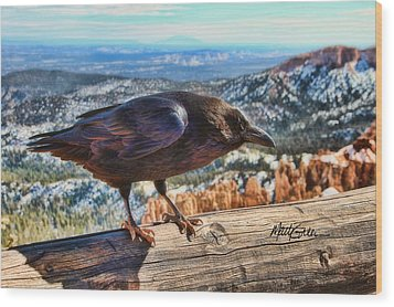 The Raven Wood Print by Marti Green