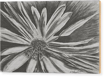 Wood Print featuring the drawing The Reacher by Yolanda Raker