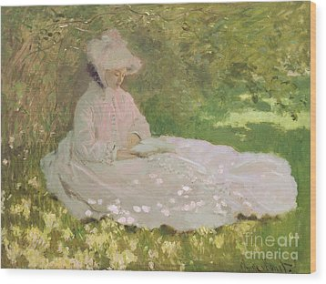 The Reader  Wood Print by Claude Monet