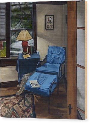 The Reading Corner Wood Print