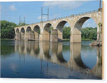 The Reading Csx Railroad Bridge At Ewing Wood Print