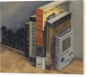 The Reading List Wood Print