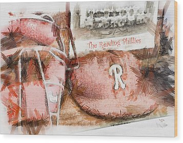 The Reading Phillies Wood Print by Trish Tritz