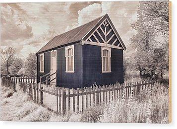 The Reading Room Appleton Le Moors Wood Print by Janet Burdon