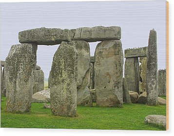 The Real Stonehenge Wood Print by Linda Phelps