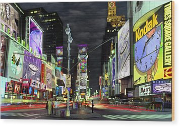 The Real Time Square Wood Print by Mike McGlothlen