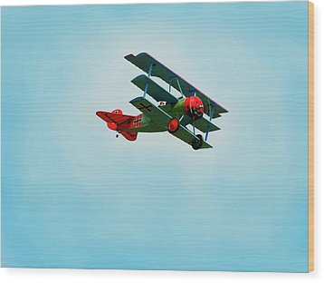 The Red Baron Wood Print by Thomas Young