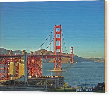 The Red Bridge Wood Print by Mike Podhorzer