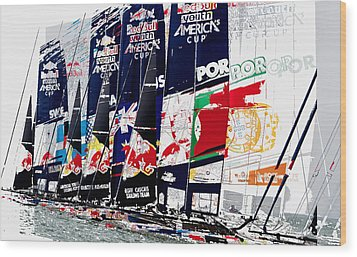The Red Bull Youth Americas Cup The Start Wood Print by John Mangino