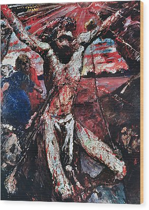 The Red Christ Wood Print by Lovis Corinth