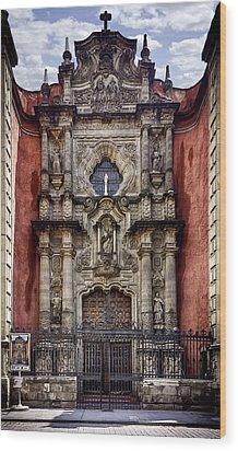 The Red Church Wood Print by Lynn Palmer