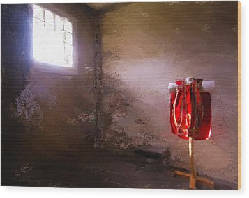 The Red Cloth Wood Print by Dale Stillman