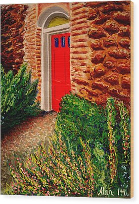 The Red Door Wood Print