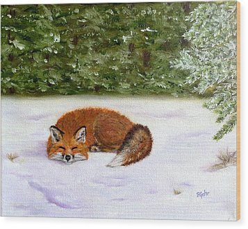 The Red Fox Of Winter Wood Print