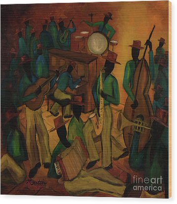 The Red Hat Octet And Friends Wood Print by Larry Martin