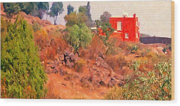 The Red House Wood Print