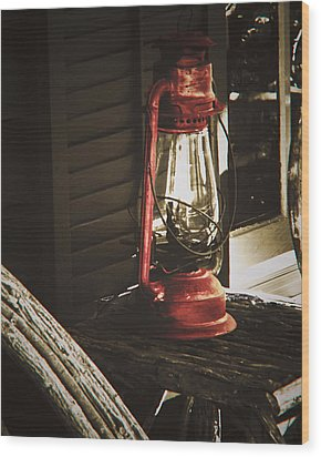 Wood Print featuring the photograph The Red Lantern by Debra Crank
