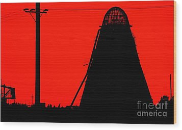 The Red Mill Wood Print by Jessica Shelton
