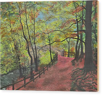 The Red Path Wood Print by Leo Gehrtz