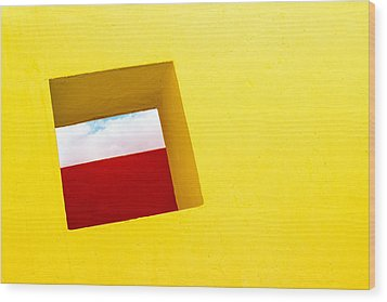 the Red Rectangle Wood Print