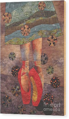 The Red Shoes Wood Print by Lynda K Boardman