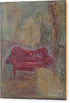 The Red Sofa Wood Print