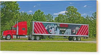 The Red Tour Truck Wood Print by Andy Lawless