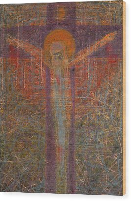 The Redeemer Wood Print by Adel Nemeth