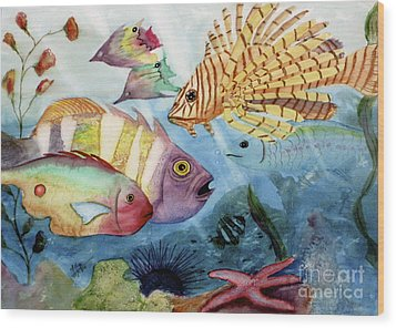 The Reef Wood Print by Mohamed Hirji